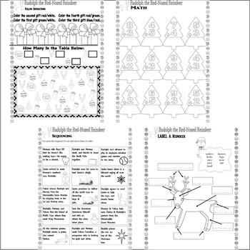 Rudolph Red-Nosed Reindeer Comprehension Activity PACKET