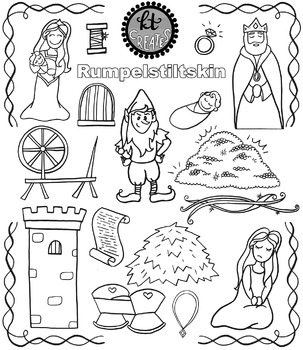 Rumpelstiltskin Fairytale Clipart Set {KT Creates Original