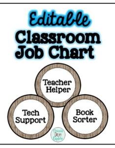 also rustic editable classroom job chart by create dream explore tpt rh teacherspayteachers