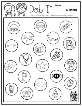 S Blends Interactive Activities (First Grade Phonics) by