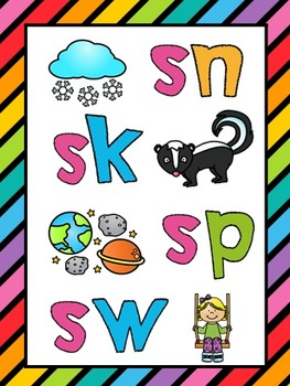 S Blends Sn Sk Sw Sp Phonics Worksheets No Prep By