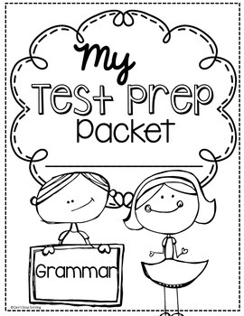 3rd Grade Grammar Test Prep Language by Can't Stop Smiling