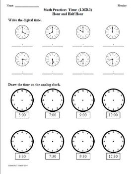 SCHOOL YEAR Worksheets for 1st Grade Math Common Core