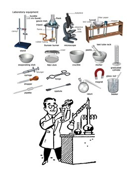 SCIENCE LAB EQUIPMENT: STUDY GUIDE, QUIZ, ANS. KEY, WORD