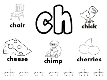 SH/ CH/ TH/ WH Digraph Worksheets Bundle! by Kindergarten
