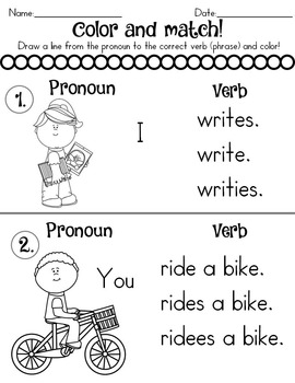 Singular and Plural Nouns Worksheets Distance Learning by