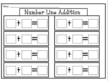 SMARTboard Number Line Addition Practice by ABC