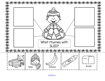 SNOW Literacy and Math Centers and Activities for