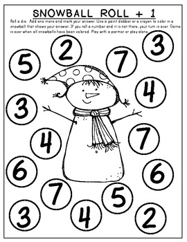 SNOW MATH FUN! Math Work Pages that Support Common Core by
