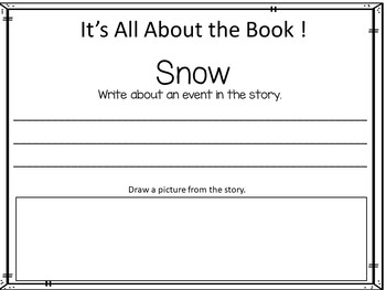 SNOW by Uri Shulevitz 40 pgs Common Core Activities by Fun