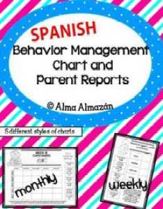 also spanish behavior management charts and parent reports by alma almazan rh teacherspayteachers