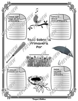 SPANISH Printable Spring Infographic Graphic Organizer by