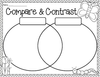 SPRING Blank Compare & Contrast Venn Diagram Templates by