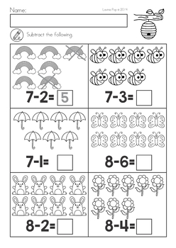Spring Kindergarten Math and Literacy... by Lavinia Pop