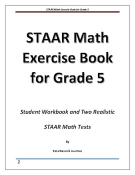 STAAR Math Exercise Book for Grade 5: Two Realistic STAAR