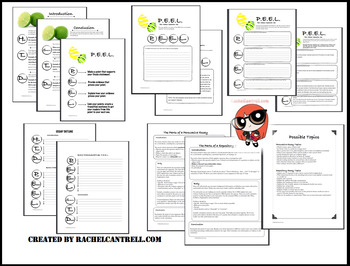 PEEL Essay Kit Graphic Organizer Outline STAAR by Eat