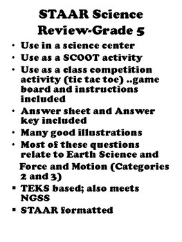STAAR Earth Science, Force and Motion: Science Review