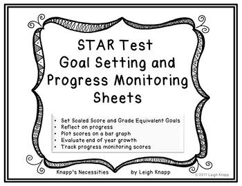 STAR Test Goal Setting and Progress Monitoring Sheets by