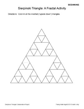 STEAM: Sierpinski Triangle Collaborative Project by Family