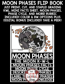 Moon Phases Activity Flip Book [Lunar Cycle Phases of the