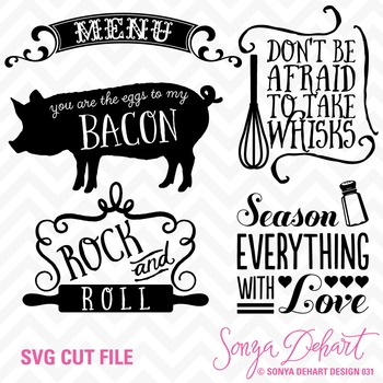 SVG Cuts and Kitchen Sayings Clip Art Silhouette Cricut