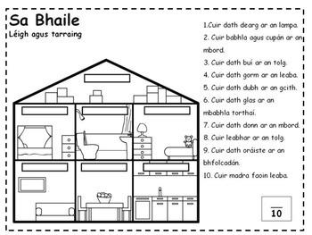 Sa Bhaile Worksheets (Irish 'At Home' Worksheets) by Ms