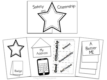 SOCIAL STUDIES: Safety & Citizenship Lapbook by Paisley