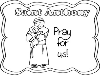 Saint Anthony Mini Book/Poster/Coloring Page by Miss P's