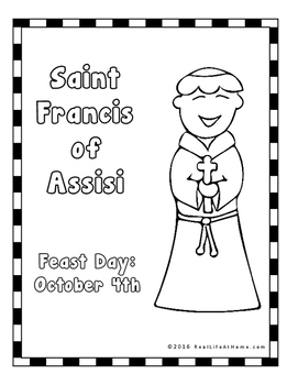 Saint Francis of Assisi Printables Activity Packet by Real