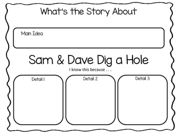 Sam and Dave Dig a Hole ~ 38 pgs of Common Core Activities