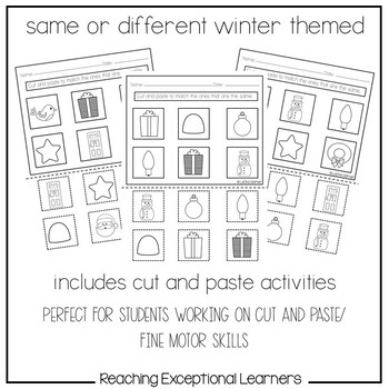 Same or Different Winter Worksheets by Reaching