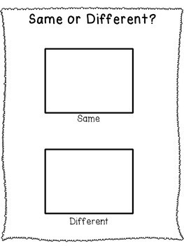 Same or Different? Task Box Sorting Activity by Specially
