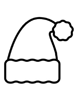 Santa Hat Colouring Page : santa, colouring, Santa, Templates, Christmas, Coloring, Pages, Outlines