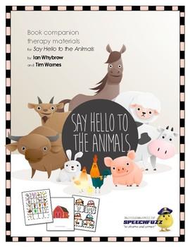 Say Hello To The Animals : hello, animals, Hello, Animals, Companion, Materials, Speech-Language, Therapy