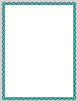 scalloped frames and borders