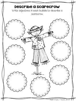 Scarecrow Craft and Writing Activities by Bright Concepts