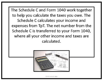 Schedule C: Top to Bottom-What TpT Sellers Need to Know including a ...