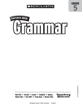 Scholastic Success With Grammar, Grade 5 by Sofiane Sabri
