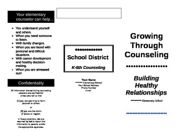 School Counseling Brochure by Unique Creations in