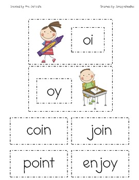 School Kids oi, oy Diphthong Word Sort by Primary Reading