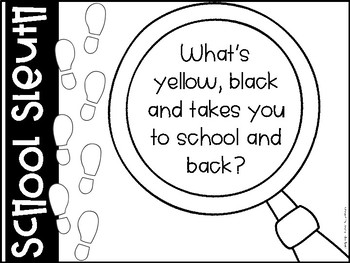 School Sleuth {A School-wide tour activity with riddles