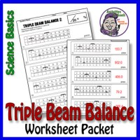 Science Basics Reading a Triple Beam Balance Worksheet ...