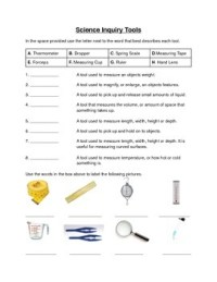Science Inquiry Tools Worksheet by Deans INK | Teachers ...