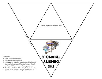 Science Journal: Density Triangle Foldable Completed by