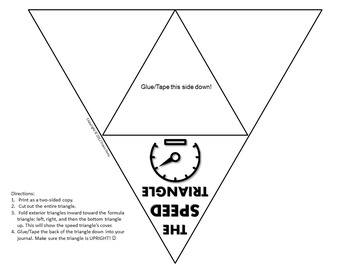 Science Journal: Speed Triangle Foldable Completed by