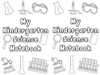 Science Notebook Cover Coloring Pages by Innovate Motivate