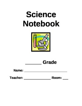 Science Notebook/Binder Cover Page by The Teacher's