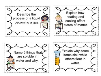 Science Packet: All about Matter by Teaching With Heart