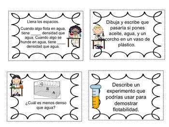Science Packet: All about Matter IN SPANISH Ciencias