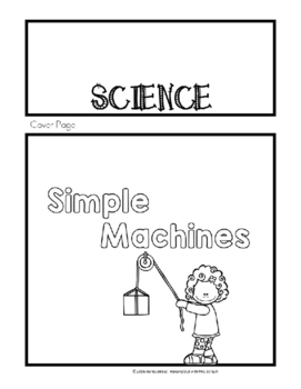 Simple Machines Flipbook and STEM Project for Grades K-3